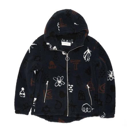 Jacquard Sherpa Hoodie // Pattern (XS)