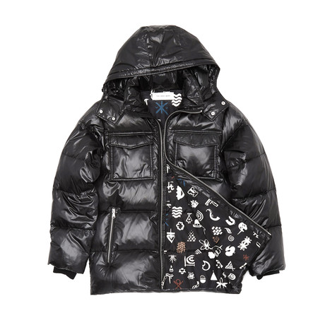 Down Filled Cire Jacket // Black (XS)