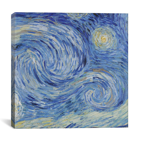 "The Starry Night, June 1889 // Vincent van Gogh (26""W x 26""H x 1.5""D)"