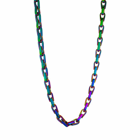 Multicolor Alternating Link Chain // 5.5mm // Gasoline