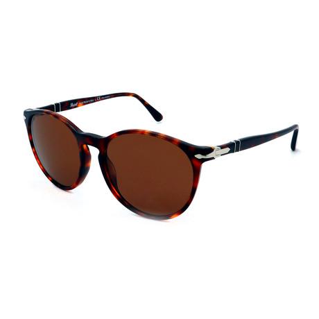 Persol // Men's PO3228S-24-AN Polarized Sunglasses // Dark Havana + Brown