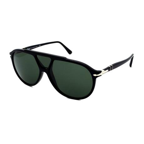 Persol // Men's PO3217S-95-31 Sunglasses // Black + Gray
