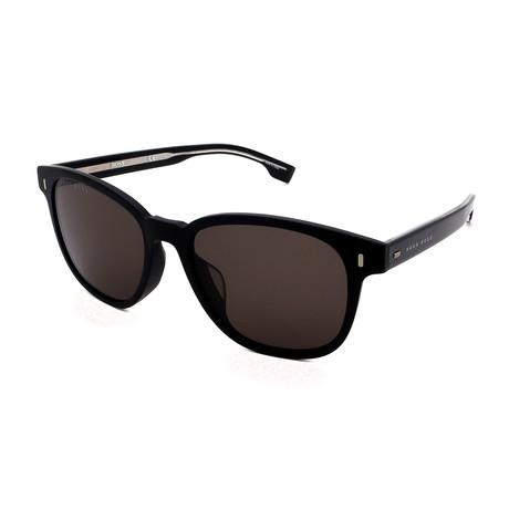 Hugo Boss // Men's 0953-F-S-003 Round Sunglasses // Black