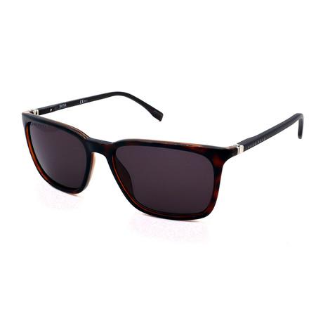 Hugo Boss // Men's 0959-S-086 Rectangular Sunglasses // Dark Havana