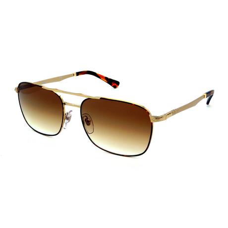 Persol // Men's PO2454S-107551 Sunglasses // Gold + Brown Gradient