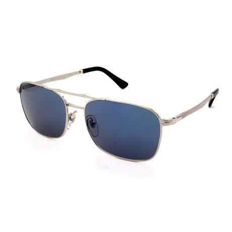 Persol // Men's PO2454S-518-56 Sunglasses // Silver + Blue Gray