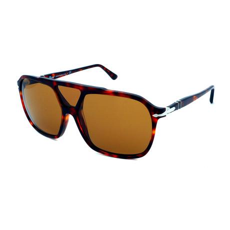 Persol // Men's PO3223S-24-53 Sunglasses // Havana + Brown