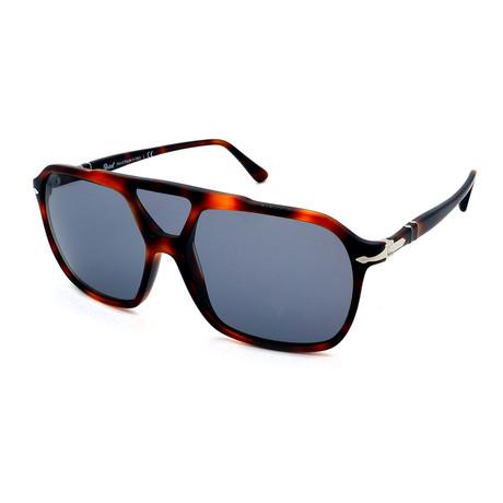 Persol // Men's PO3223S-1101R5 Sunglasses // Dark Havana + Gray