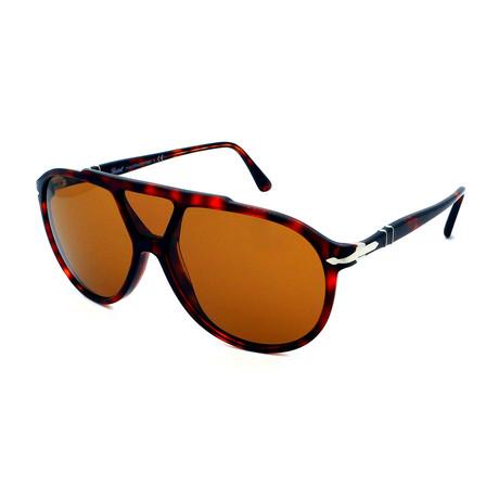 Persol // Men's PO3217S-24-53 Sunglasses // Dark Havana + Brown