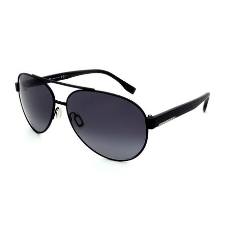 Hugo Boss // Men's 0648F-S-10G Aviator Sunglasses // Black + Gray Gradient