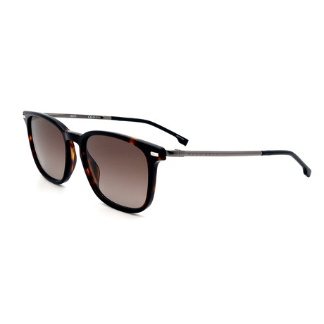 Hugo Boss // Men's 1028F-S-EX4 Sunglasses // Brown + Silver