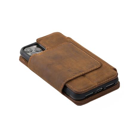 V5 Wallet Case // Brown (iPhone 7/8/SE)