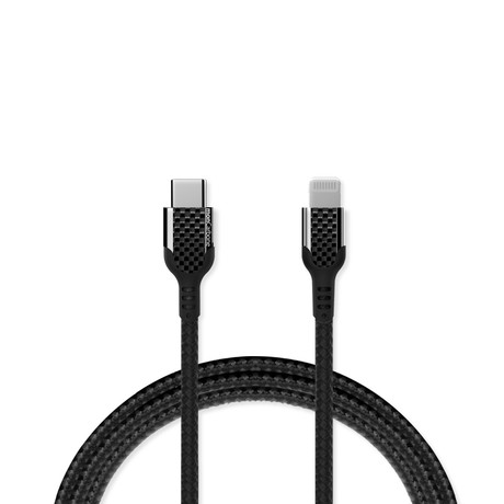 USB-C to Lightning Fast Charging Cable // Carbon Fiber