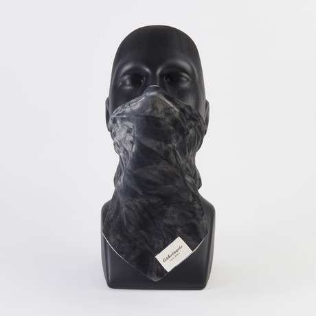 Silky Tie Dye Maskdanna // Black (XS)