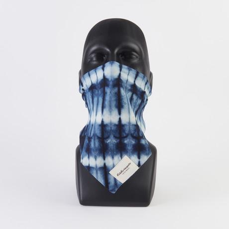 Tie Dye Print Maskdanna V1 // Indigo (XS)