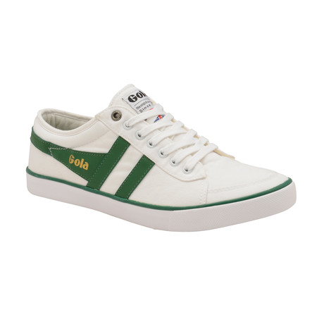 Comet Shoes // White + Dark Green (US: 7)