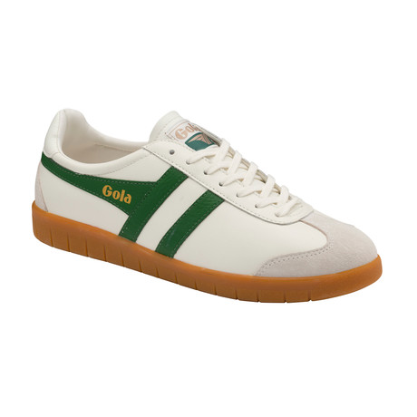 Hurricane Leather Shoes // Off White + Green + Gum (US: 7)