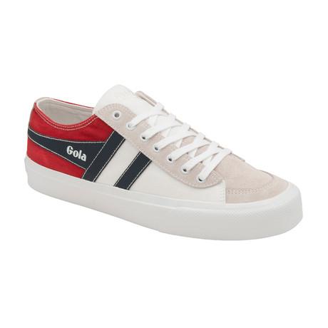 Quota II RWB Shoes // White + Navy + Red (US: 7)