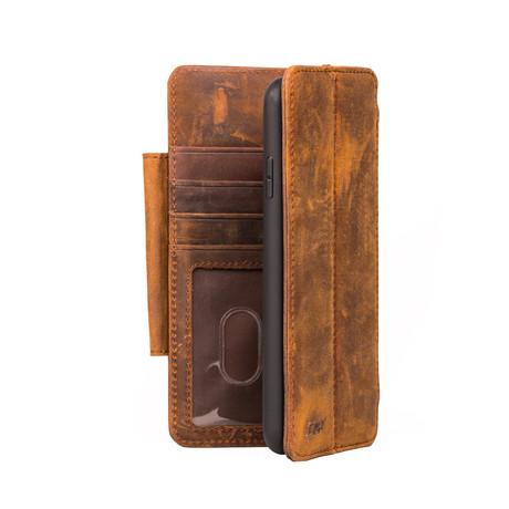V8 WALLET Case // Brown (iPhone 11 Pro)