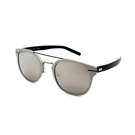 Men's AL13-5-OUFOM3 Sunglasses // Black + Silver Mirror