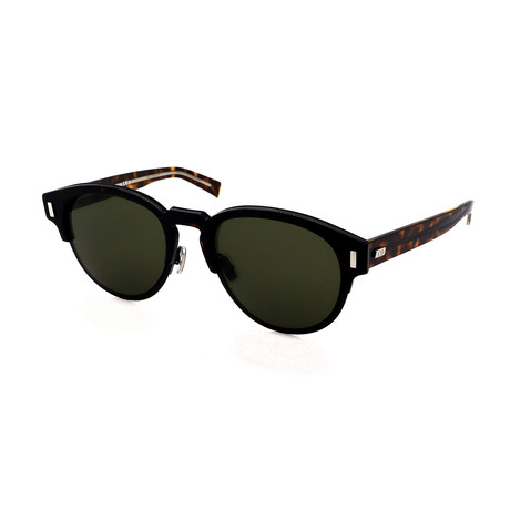 Men's DIOR-BLACKTIE-2-0S-J-UDE Round Sunglasses // Black + Havana