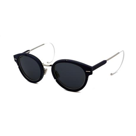 Men's DIOR-MAGNITUDE-O1-S82 Sunglasses // Dark Blue + Silver