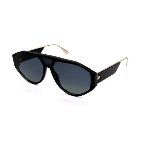 Unisex DIOR-CLAN-1-807 Sunglasses // Black + Gold