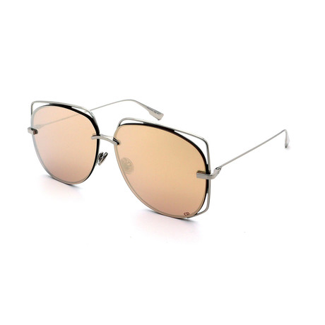 Unisex DIOR-STELLAIRE-6-010 Sunglasses // Silver + Rose Gold Mirror