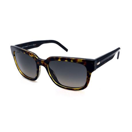 Men's DIOR-BLACKTIE-187-S-98B Sunglasses // Dark Havana + Gray Gradient