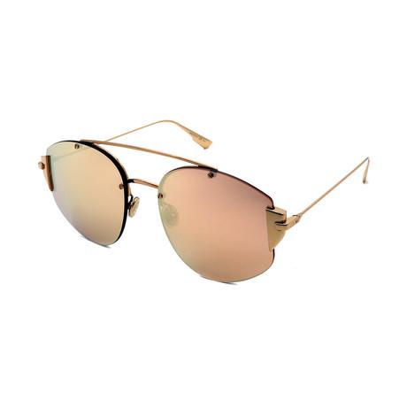 Unisex DIOR-STRONGER-SQ-J5G Sunglasses // Gold + Gold Mirror
