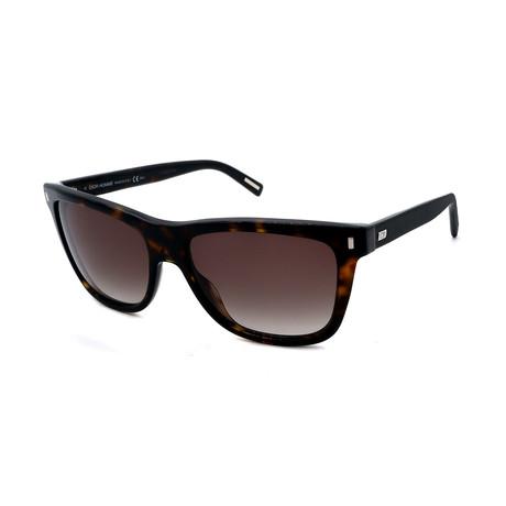 Men's DIOR-BLACKTIE-154-S-086 Sunglasses // Dark Havana + Brown Gradient
