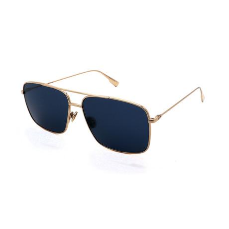 Men's DIOR-STELLAIRE-03S-J5G Aviator Sunglasses // Gold + Blue