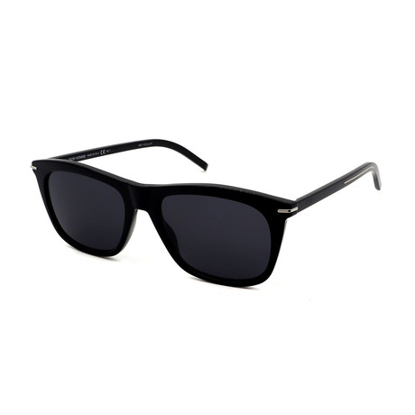 Men's DIOR-BLACKTIE-268S-807 Rectangular Sunglasses // Black + Gray
