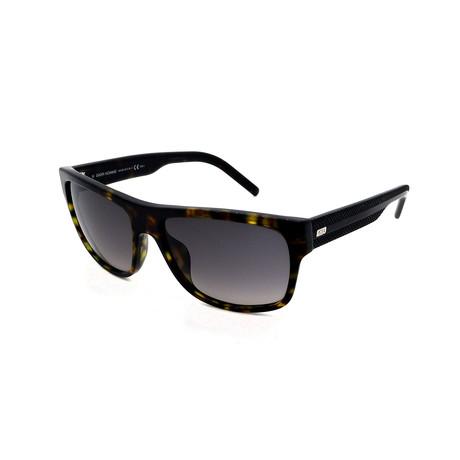 Men's DIOR-BLACKTIE-175-S-086 Sunglasses // Dark Havana + Gray Gradient