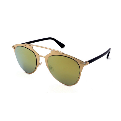 Unisex DIOR-REFLECTED-YC2 Sunglasses // Gold + Gold Mirror