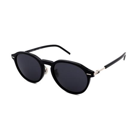 Men's DIOR-TECHNI-CITY-7F-807 Sunglasses // Black + Silver