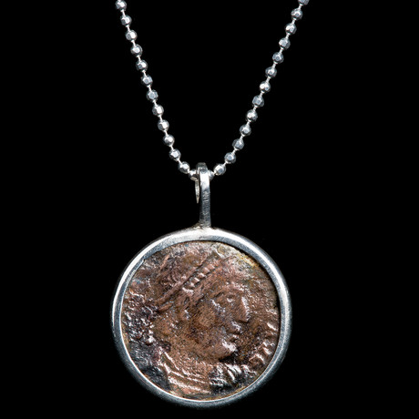 Authentic Roman Coin Necklace Set // Emperor Constantine (306-337 AD) // V1