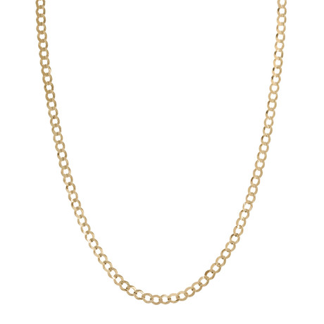 Solid 18K Gold Cuban Curb Chain Bracelet // Yellow