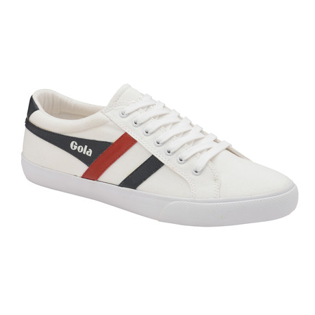 Varsity Shoes // White + Navy + Red (US: 7)
