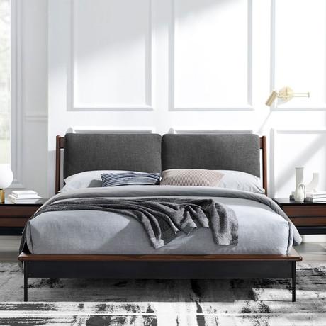 Park Avenue Platform Bed + Fabric (Queen)