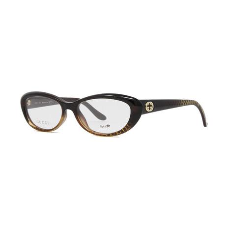 Women's GG3566 Optical Frames // Brown + Gold