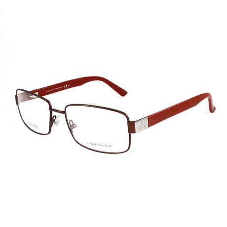 Men's GG1942 Optical Frames // Brown + Red