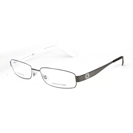 Unisex GG1939 Optical Frames // Dark Ruthenium + White (Size 52-16-145)