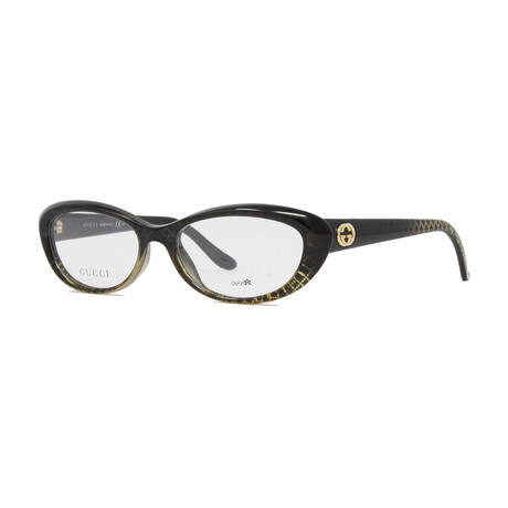 Women's GG3566 Optical Frames // Black + Gold