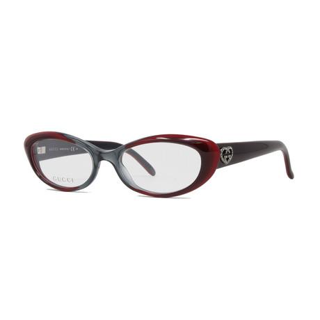 Women's GG3515 Optical Frames // Gray + Bordeaux