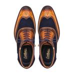Wingtip Brogue Oxford // Tan + Navy Blue (US: 8)