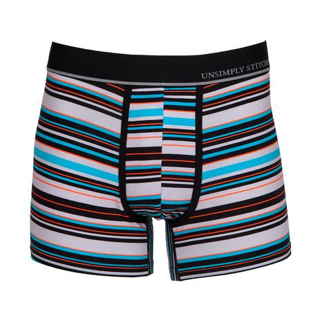 Rock Stripe // Gray + Multicolor (S)