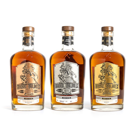 Horse Soldier Bourbon Whiskey // Set of 3