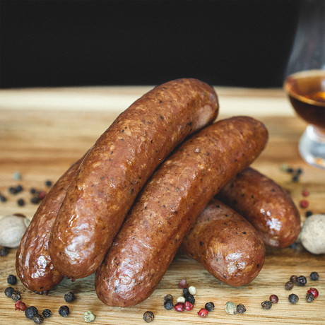 Bluetick Bourbon Infused Bratwursts // 4 lb