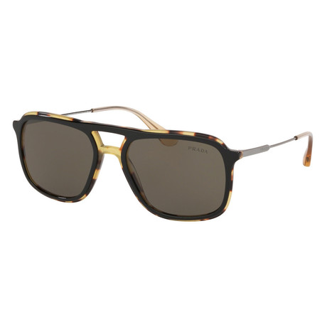 Men's PR06VS-NAI5S2 Sunglasses // Black + Medium Havana + Brown